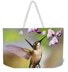 Ruby-throated Hummingbird - Digital Art Weekender Tote Bag