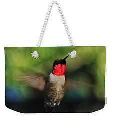 Ruby Throated Hummingbird Weekender Tote Bag by Lizi Beard-Ward