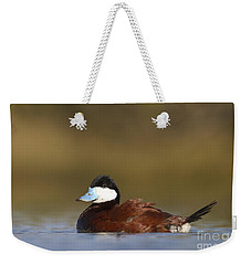 Weekender Tote Bag featuring the photograph Ruddy Duck  by Bryan Keil