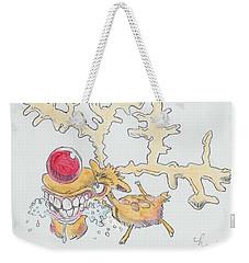 Rudolph The Reindeer Cartoon Weekender Tote Bag
