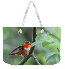 Rufus Hummingbird Weekender Tote Bag by Leone Lund