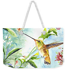 Weekender Tote Bag featuring the painting Rufus Paradise by Arthur Fix