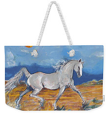 Running Horse M Weekender Tote Bag by Mary Armstrong