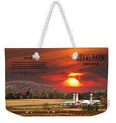 Weekender Tote Bag featuring the photograph Rural Barns  My Book Cover by Randall Branham