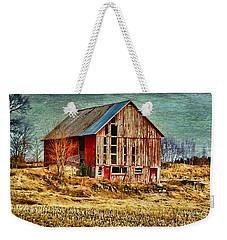 Rural Rustic Vermont Scene Weekender Tote Bag by Deborah Benoit