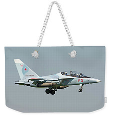Russian Air Force Yak-130 Landing Weekender Tote Bag by Daniele Faccioli