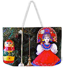 Russian Christmas Tree Decoration In Fredrick Meijer Gardens And Sculpture Park In Grand Rapids-mi Weekender Tote Bag