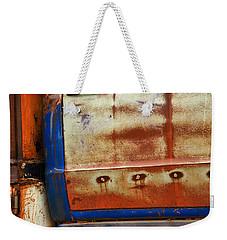 Rust And Blue Weekender Tote Bag