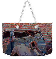Weekender Tote Bag featuring the photograph Rust In Goodland by Lynn Sprowl