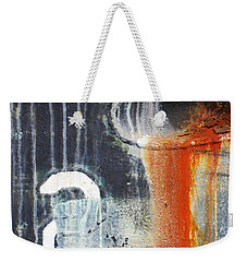 Weekender Tote Bag featuring the photograph Rusted Waterfall by Jani Freimann