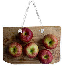 Weekender Tote Bag featuring the photograph Rustic Apples by Jocelyn Friis