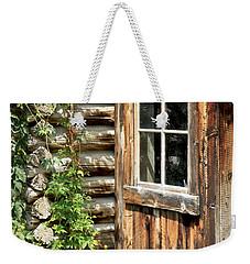 Rustic Cabin Window Weekender Tote Bag