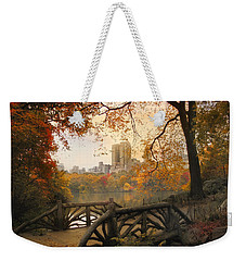 Weekender Tote Bag featuring the photograph Rustic City View by Jessica Jenney