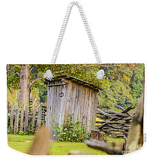 Rustic Fence And Outhouse Weekender Tote Bag
