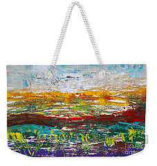 Rustic Landscape Abstract Weekender Tote Bag