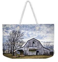 Rustic White Barn Weekender Tote Bag
