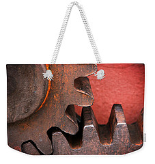 Rusty And Metallic Gear Wheel Weekender Tote Bag