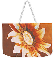 Weekender Tote Bag featuring the painting Rusty Gazania by Sophia Schmierer
