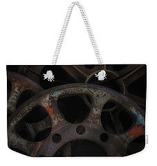 Rusty Iron Gears Weekender Tote Bag by Gary Warnimont