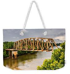 Rusty Old Railroad Bridge Weekender Tote Bag