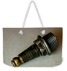 Rusty Old Spark Plugs Weekender Tote Bag by Wilma  Birdwell