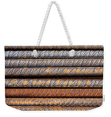 Rusty Rebar Rods Metallic Pattern Weekender Tote Bag