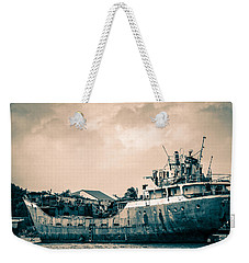 Rusty Ship Weekender Tote Bag