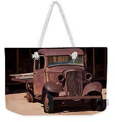 Rusty Truck 04 Weekender Tote Bag by Wally Hampton