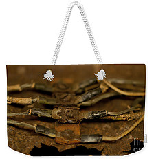 Rusty Wires Weekender Tote Bag by Wilma  Birdwell