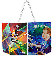 Weekender Tote Bag featuring the painting Ryan And Kris by Joshua Morton