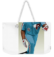 Weekender Tote Bag featuring the digital art Ryan Howard by Scott Weigner