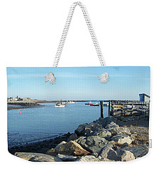 Weekender Tote Bag featuring the photograph Rye Harbor  by Eunice Miller