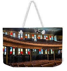 Weekender Tote Bag featuring the photograph Ryman Colors by Glenn DiPaola