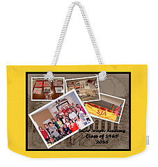 S J A Reunion Collage Picture Pile Weekender Tote Bag