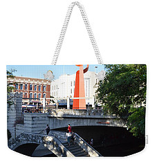 Weekender Tote Bag featuring the photograph Sa River Walk by Shawn Marlow