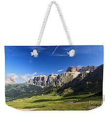 Saas Pordoi And Fassa Valley Weekender Tote Bag by Antonio Scarpi