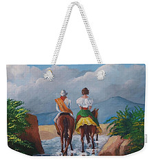 Sabanero And Wife Crossing A River Weekender Tote Bag