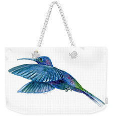 Sabrewing Hummingbird Weekender Tote Bag by Amy Kirkpatrick