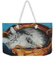 Sabrina In Her Basket Weekender Tote Bag by Jeanne Fischer
