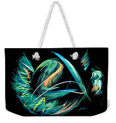 Weekender Tote Bag featuring the painting Sacred Feather Dance by Asha Carolyn Young