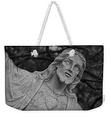 Sacred Heart Of Jesus - Bw Weekender Tote Bag