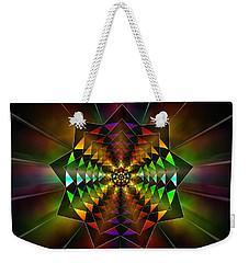Weekender Tote Bag featuring the drawing Sacred Power Of Nine by Derek Gedney