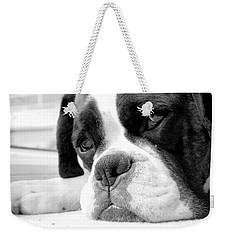 Sad Boxer Dog Weekender Tote Bag