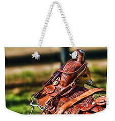 Saddle In Waiting Western Saddle Horse Weekender Tote Bag