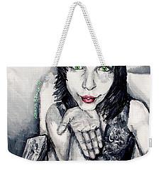 Weekender Tote Bag featuring the painting Sage by Shana Rowe Jackson