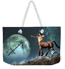 Sagittarius Zodiac Symbol Weekender Tote Bag by Daniel Eskridge