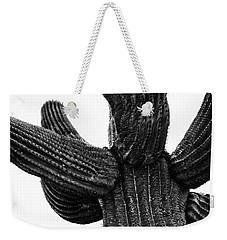 Saguaro Cactus Black And White 3 Weekender Tote Bag
