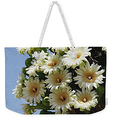 Weekender Tote Bag featuring the photograph Saguaro Flower Cluster by Tom Janca