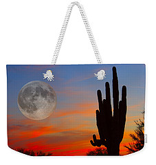 Saguaro Full Moon Sunset Weekender Tote Bag