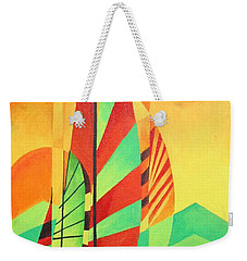 Weekender Tote Bag featuring the painting Sail To Shore by Tracey Harrington-Simpson